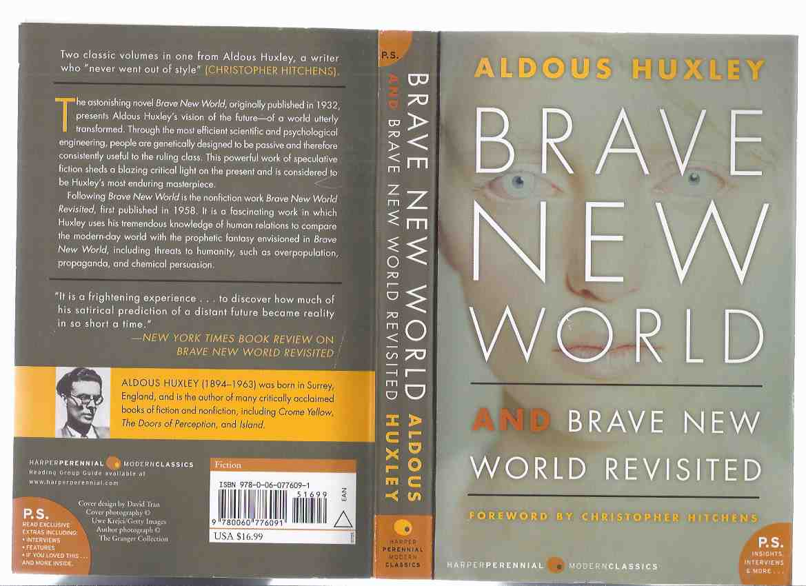 Image for Brave New World / Brave New World Revisited ---by Aldous Huxley, Foreword by Christopher Hitchens (inc.  Life of the Mind; Too Far Ahead of its Time; Contemporary Response to BNW / BNWR; Letter to George Orwell; Complete Bibliography, etc)