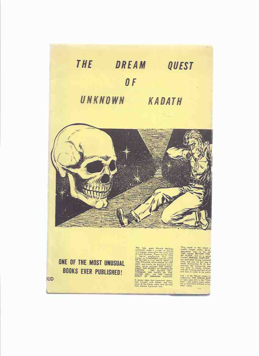 Image for The Dream-Quest of Unknown Kadath -by H P Lovecraft / Shroud Press ( Yellow Dustjacket Issue )