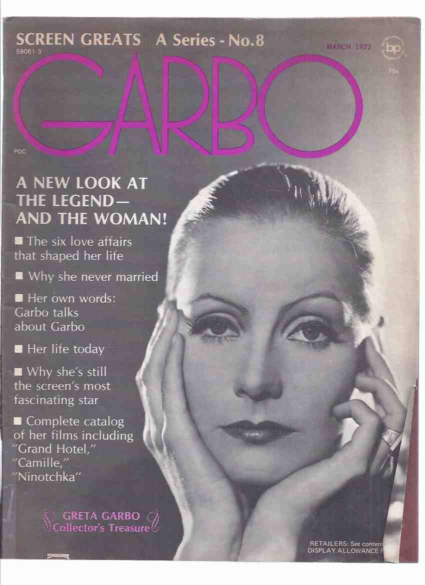 Image for Screen Greats Series, Volume 1, No. 8 - Greta Garbo Collector's Treasure / Issue (inc. Articles About Camille; Ninotchka; Mata Hari; John Gilbert; etc)