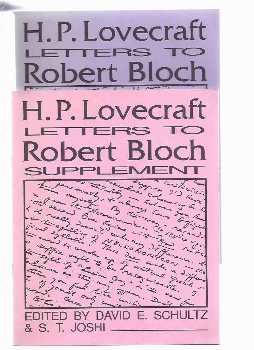 Image for H P Lovecraft Letters to Robert Bloch ---with HPL Letters to Robert Bloch Supplement (with Errata ) / Necronomicon Press ( H P Lovecraft )
