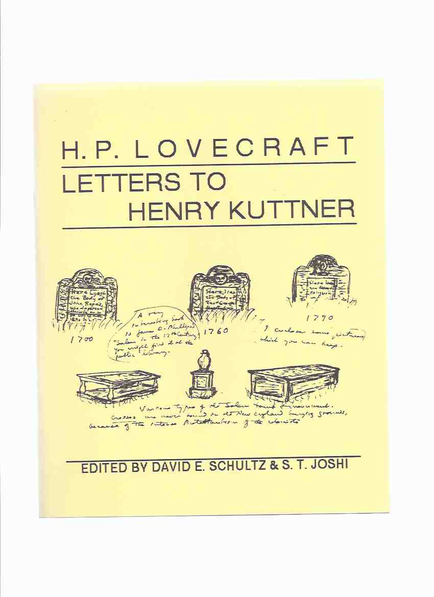 Image for H P Lovecraft Letters to Henry Kuttner / Necronomicon Press ( H P Lovecraft )