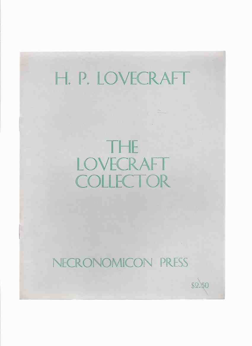 Image for H P Lovecraft: The Lovecraft Collector ( Facsimile Reprint of the 1949 Magazine ) / Necronomicon Press ( H P Lovecraft )