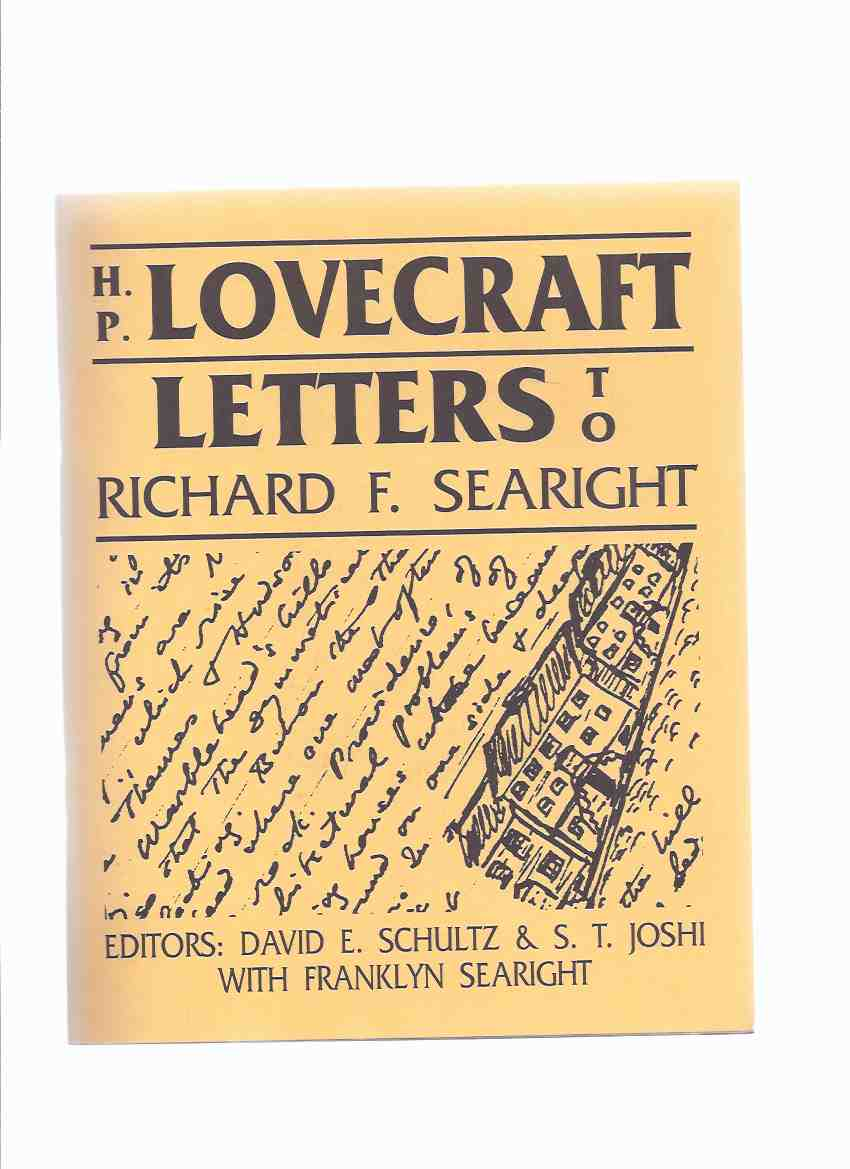 Image for H P Lovecraft:  Letters to Richard F Searight / Necronomicon Press ( H P Lovecraft )