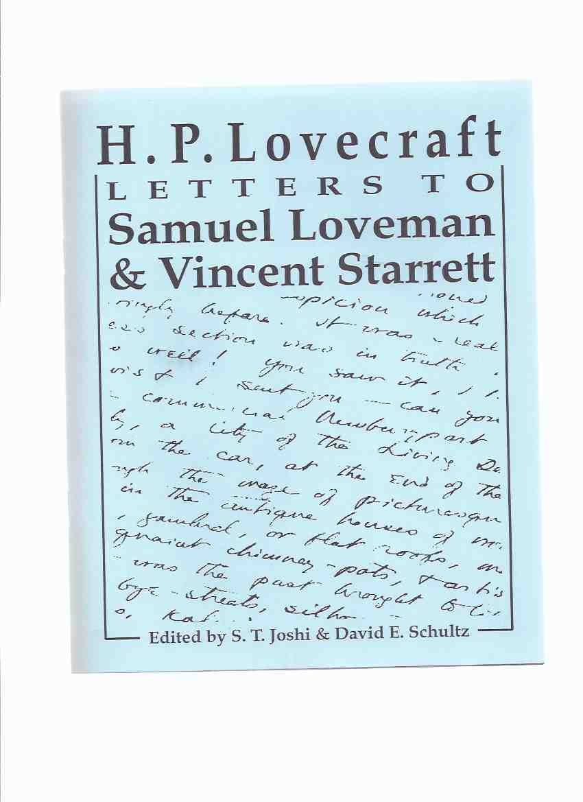 Image for H P Lovecraft:  Letters to Samuel Loveman and Vincent Starrett / Necronomicon Press ( H P Lovecraft )