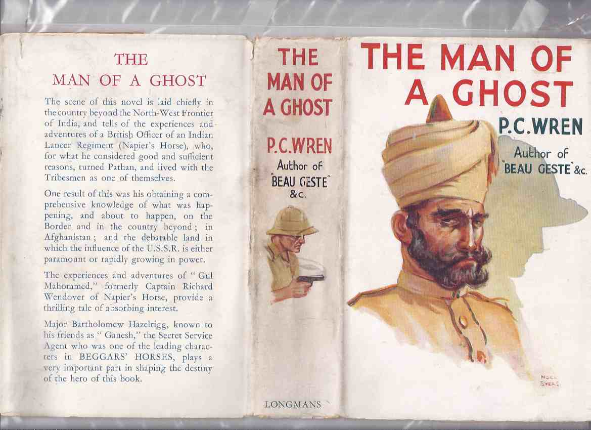 Image for The Man of a Ghost ---by P C Wren (aka: The Spur of Pride )( Indian Lancer Cover Art )