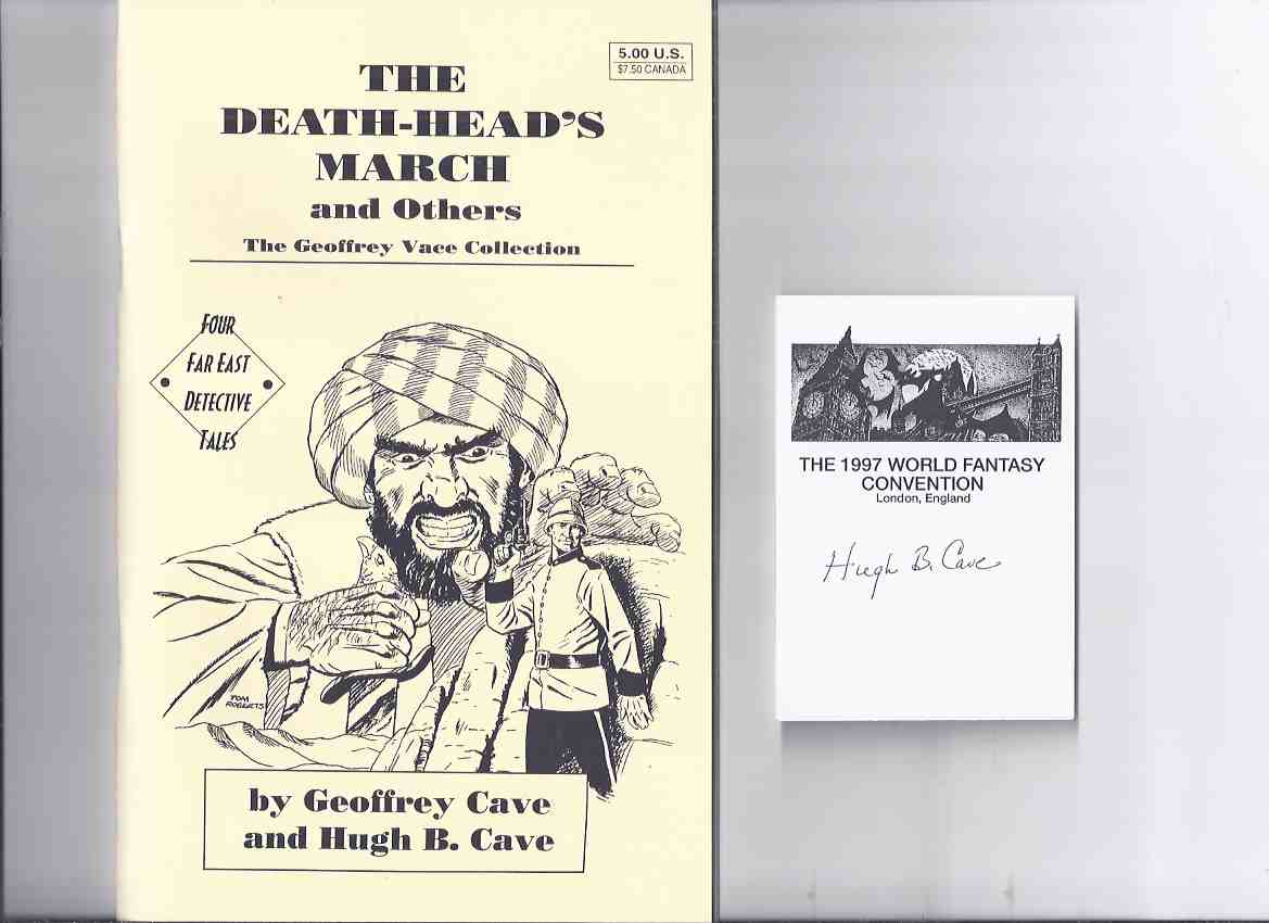 Image for The Death-Head's March & Others: Geoffrey Vace Collection; Four Far East Detective Tales -by Geoffrey & Hugh B Cave - signed (also:  Four Doomed Men; Jumping Well; Step Softly Sahib )(taken from ORIENTAL STORIES / MAGIC CARPET Magazines / Pulps )