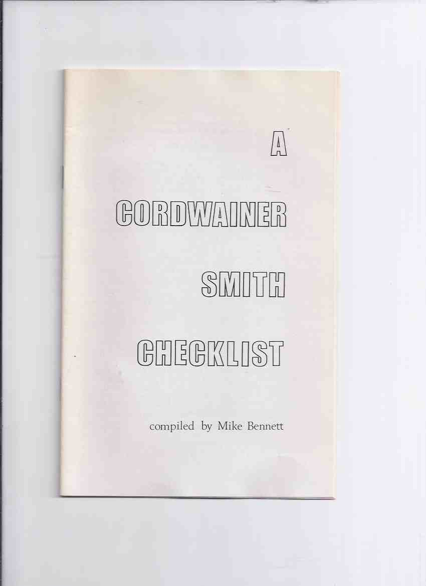 Image for A Cordwainer Smith Checklist / Chris Drumm Books ( Check List )