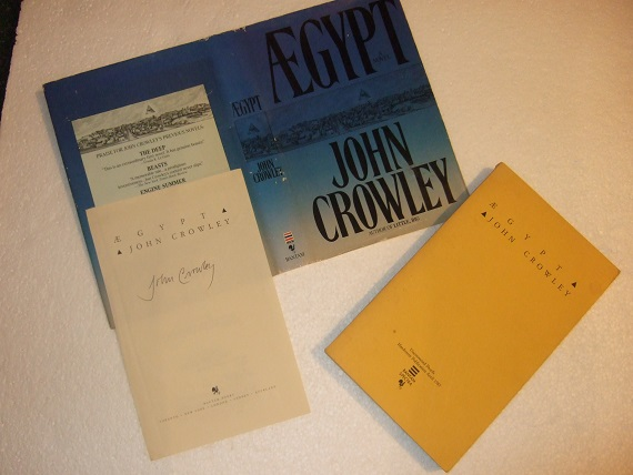 Image for Aegypt ---by John Crowley - Signed Title page for AEgypt laid-In  ( later released as The Solitudes )( Ægypt )