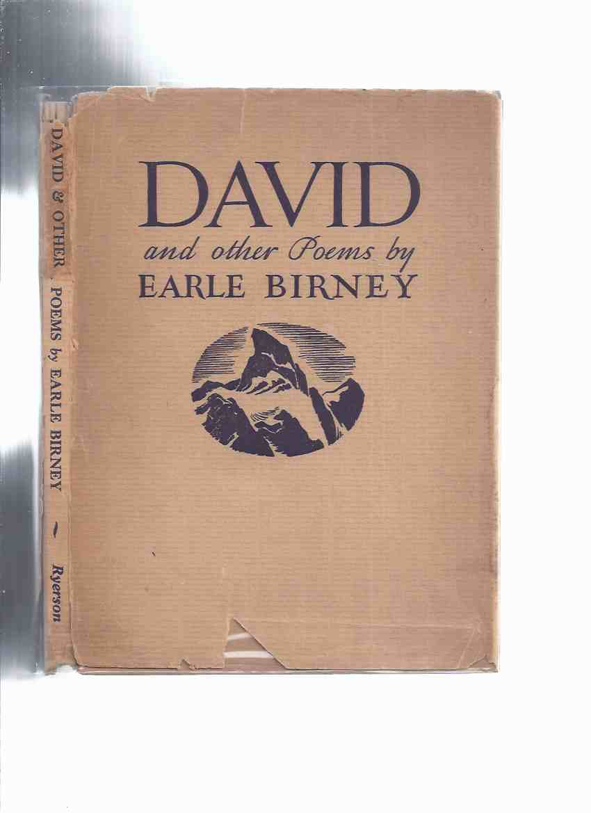 Image for David and Other Poems ---by Earle Birney  ( poetry )