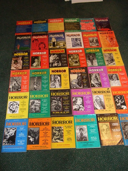 Image for 36 Volumes: Magazine of Horror and Strange Tales -Book 1, 2, 3, 4, 5, 6, 7, 8, 9, 10, 11, 12, 13, 14, 15, 16, 17, 18, 19, 20, 21, 22, 23, 24, 25, 26, 27, 28, 29, 30, 31, 32, 33, 34, 35, 36 -The COMPLETE RUN of DIGEST