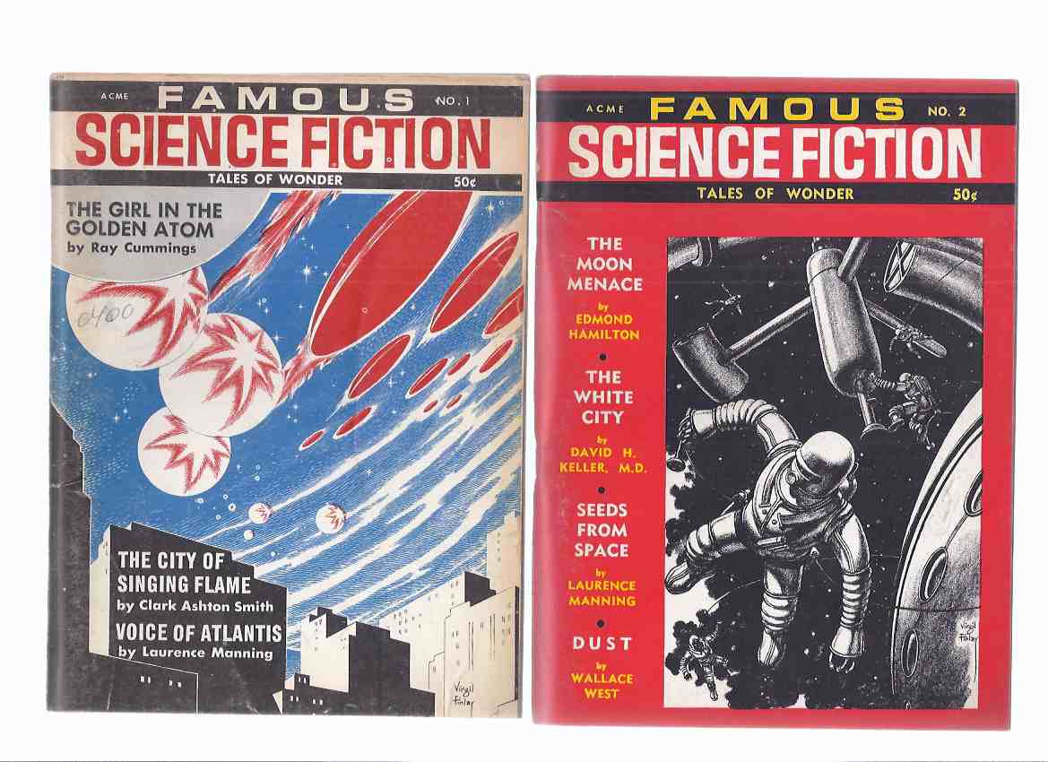 Image for Famous Science Fiction: Tales of Wonder Volume 1 -# 1, 2, 3, 4, 6 /and/ Vol. 2 # 7, 8, 9 --EIGHT ISSUES ( Plague; Moon Menace; City / Beyond Singing Flame; City Spiders; Master of Octopus; Dragon-Kings; Fires Die Down; Not By Its Cover; Glance Ahead, etc)