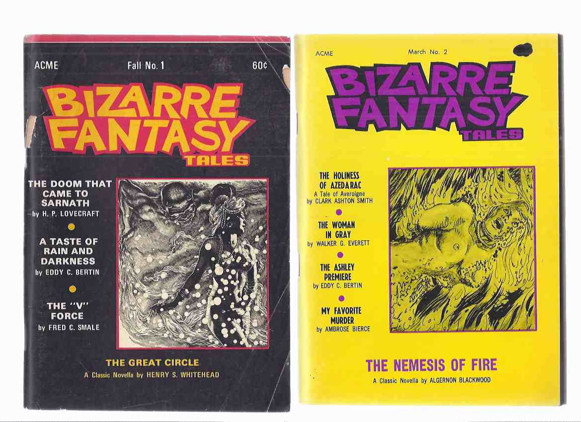 Image for Bizarre Fantasy Tales Digests, Volume 1 # 1 / 2 (inc.  The Great Circle; Doom that Came to Sarnath; Inquisitions (reviewing James Branch Cabell's fantasies ); Never Bet the Devil Your Head; Nemesis of Fire; My Favorite Murder; Holiness of Azederac; etc)