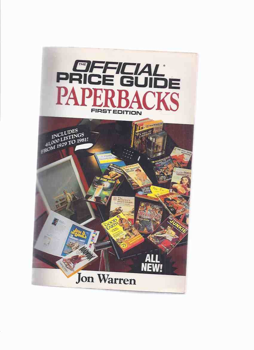 Image for The Official Price Guide to Paperbacks:  First Edition ---by Jon Warren -a Signed Copy ( PBO / PB Editions / Mass Market Editions )