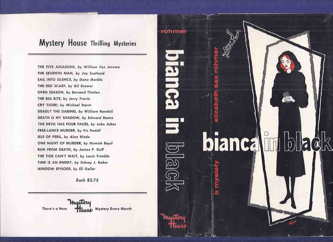 Image for DUSTJACKET ONLY for;  BIANCA in BLACK - Mystery House 1958 Hardcover Edition DUSTJACKET ONLY