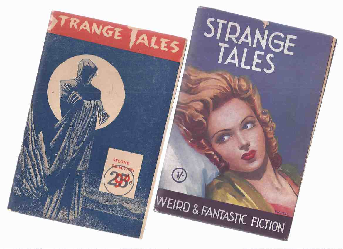 Image for Strange Tales Issue # 1, 2 -TWO VOLUMES / Utopian Publications (inc.Non-Stop Mars; Pink Elephants; Brain of Ali Khan; Hunters from Beyond; Experiment in Murder; The Tombstone; Moon Devils; Cool Air; The Manikin; Nameless Offspring; Sorcerer's Jewel etc)