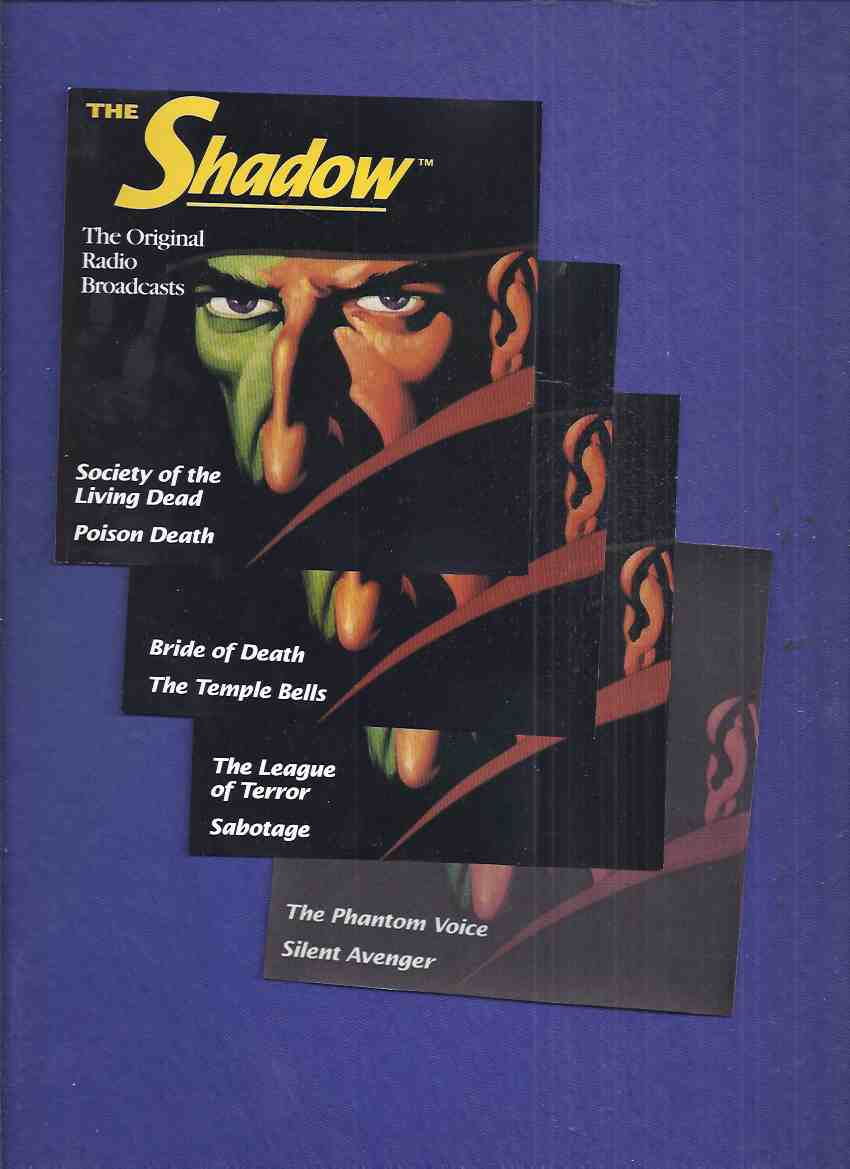Image for 4 CDs with 8 Shadow Radio Broadcasts: Phantom Voice; Silent Avenger; Bride of Death; Temple Bells; League of Terror; Sabotage; Society of the Living Dead; Poison Death ( Lamont Cranston )(each episode Is about 27/28 minutes)