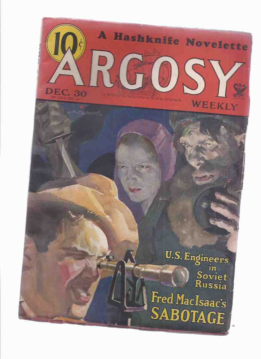 Image for Argosy Weekly Magazine ( Pulp ), December 30, 1933 (inc. Outlaw of Mars [part 6]; Santa Claus Trail; White Christmas; Sabotage [part 1];  etc)