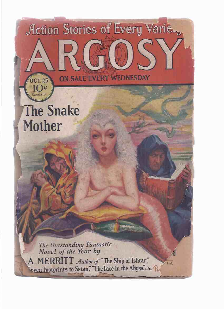 Image for Argosy Weekly Magazine ( Pulp ), October 25, 1930 (inc. Snake Mother [part 1]; Tiger Dick's Doubloons [pt 2]; Jungle Justice [pt3]; Legacy of Peril [pt 5]; Written in Sand; man's Way; Cotter-Pin Davis, Pug; Hokum Valley;  etc)