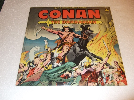 Image for Conan the Barbarian - 33 1/3 Record Album with 4 Stories - The Jewel of the Ages / Shadow of the Stolen City / The Thunder Dust / The Crawler in the Mists / Marvel Comics  ( LP )