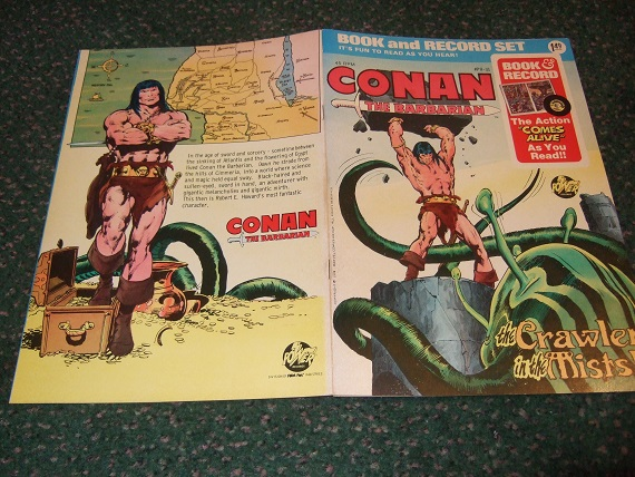 Image for Conan the Barbarian - 45 Record Album with comic The Crawler in the Mists  (later Issued By Marvel Comics )
