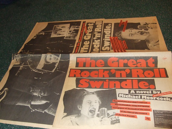 Image for The Great Rock 'n'  Roll Swindle -the novel you just didn't expect. The outlandish, zany, intriguing newspaper of the book of the novel of the film of the record of The Sex Pistols ---by Michael Moorcock