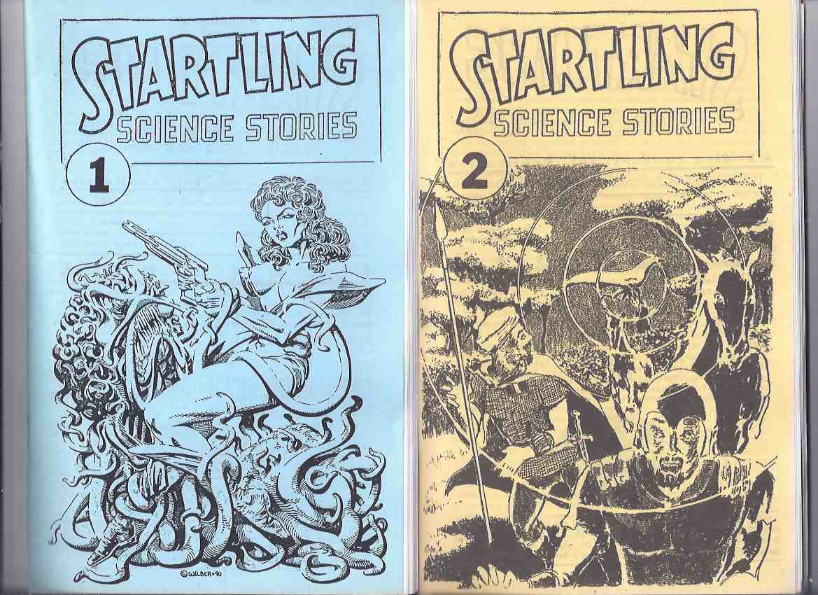 Image for Startling Science Stories, Issue # 1 and 2 ( Charley's Tomb;  Crimson Bell; Lizards; Oh, to be a Space Pilot; Jungle Warfare; The Teraphim )