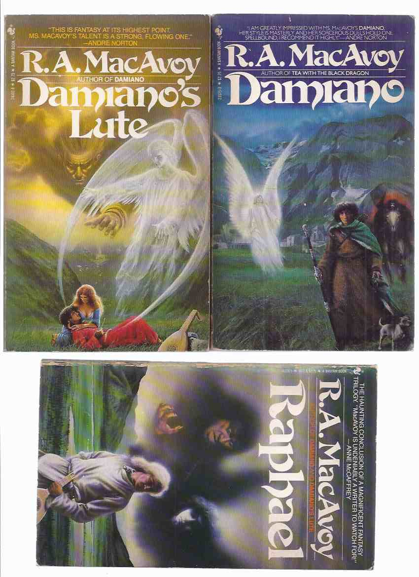 Image for Damiano; Damiano's Lute; Raphael ( Books 1, 2, 3 of the Trilogy) -by R A MacAvoy -THREE VOLUMES -all Signed