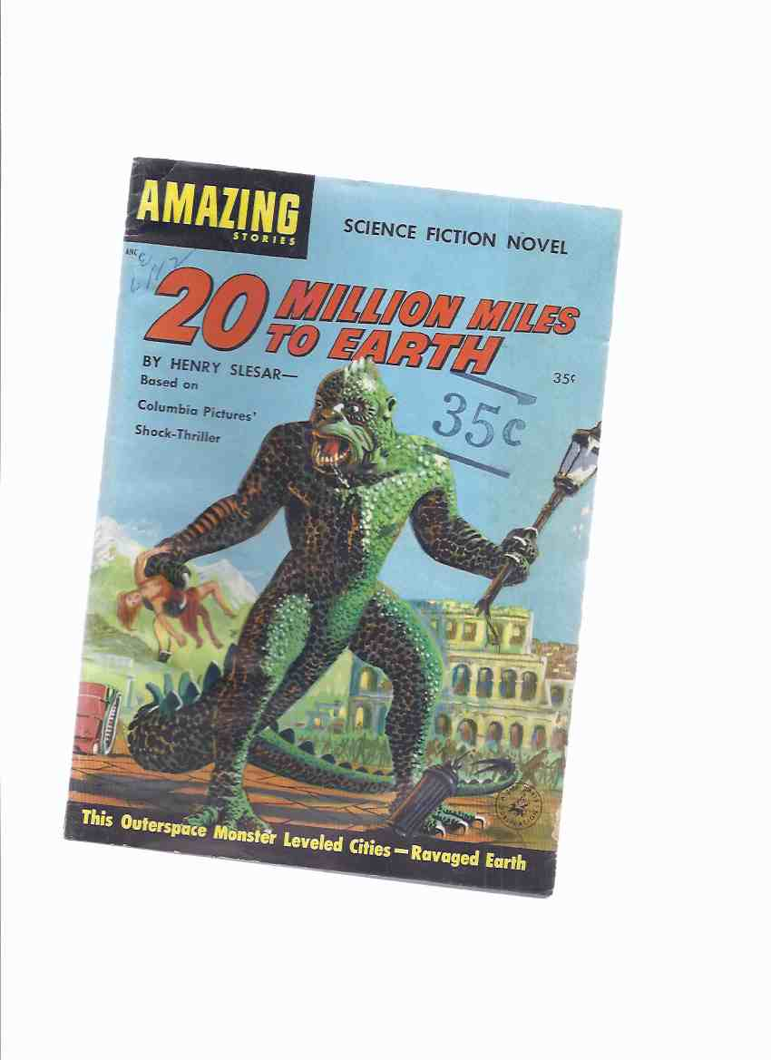 Image for Twenty ( 20 ) Million Miles to Earth (with Three Movie Stills )--- Based on Columbia Pictures Shock Thriller --- This Outer Space Monster Leveled Cities - Ravaged Earth ( Cover Shows Ray Harryhausen Monster ) ( 20000000 / 20,000,000 )