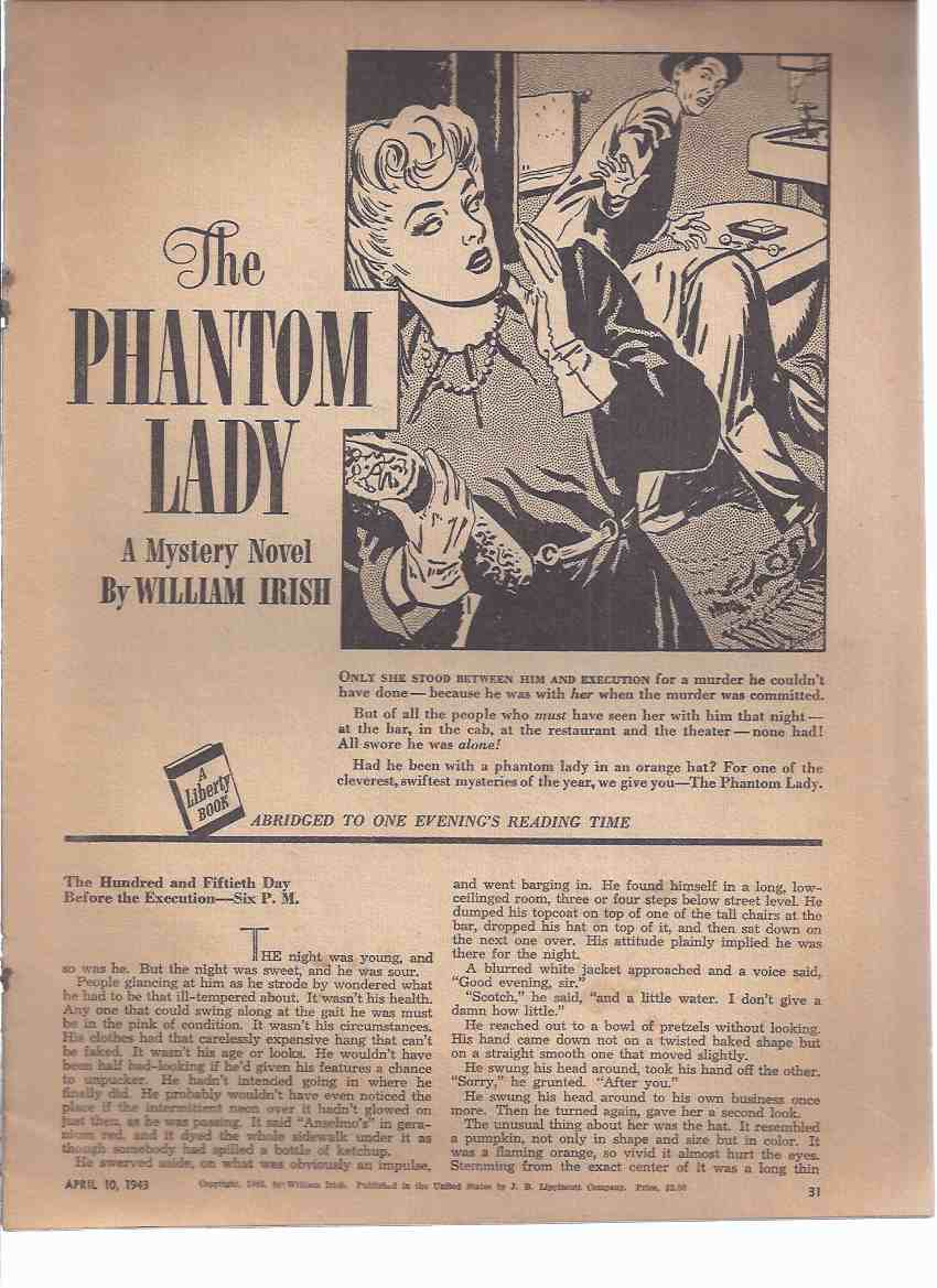 Image for The Phantom Lady -by William Irish ( A Liberty Magazine Abridged Edition )