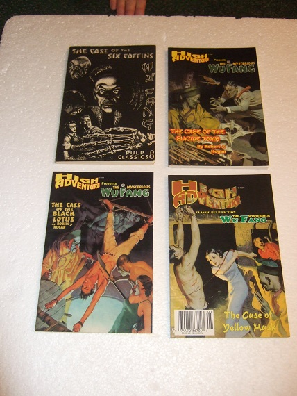 Image for 4 VOLUMES - The Mysterious Wu Fang: Case of the Six Coffins / Yellow Mask / Suicide Tomb / Black Lotus –story # 1, 3, 4, 6 (inc. Shanghai Murder; House of Doom ) )( Pulp Classics # 8 with Issue #38, 42, 47 in the High Adventure Pulp Reprint Series )