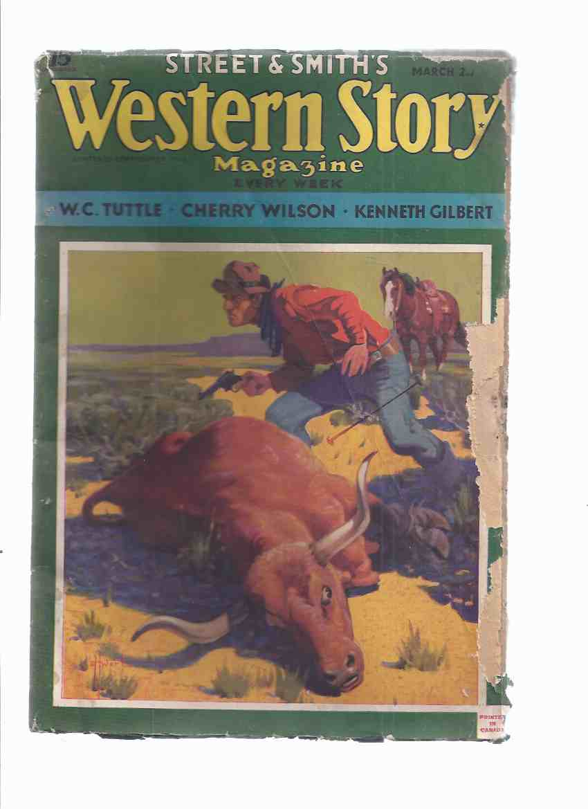 Image for Western Story Magazine ( Pulp ), Volume 137, # 2, March 2, 1935 (inc. Sundown of Ghost Dance; Great Geyser; Big Pard (part 3); Pride of Gallina; Roman in the gloamin'; Black Ace; Bounty-Bent; More Precious Than Gold; etc)