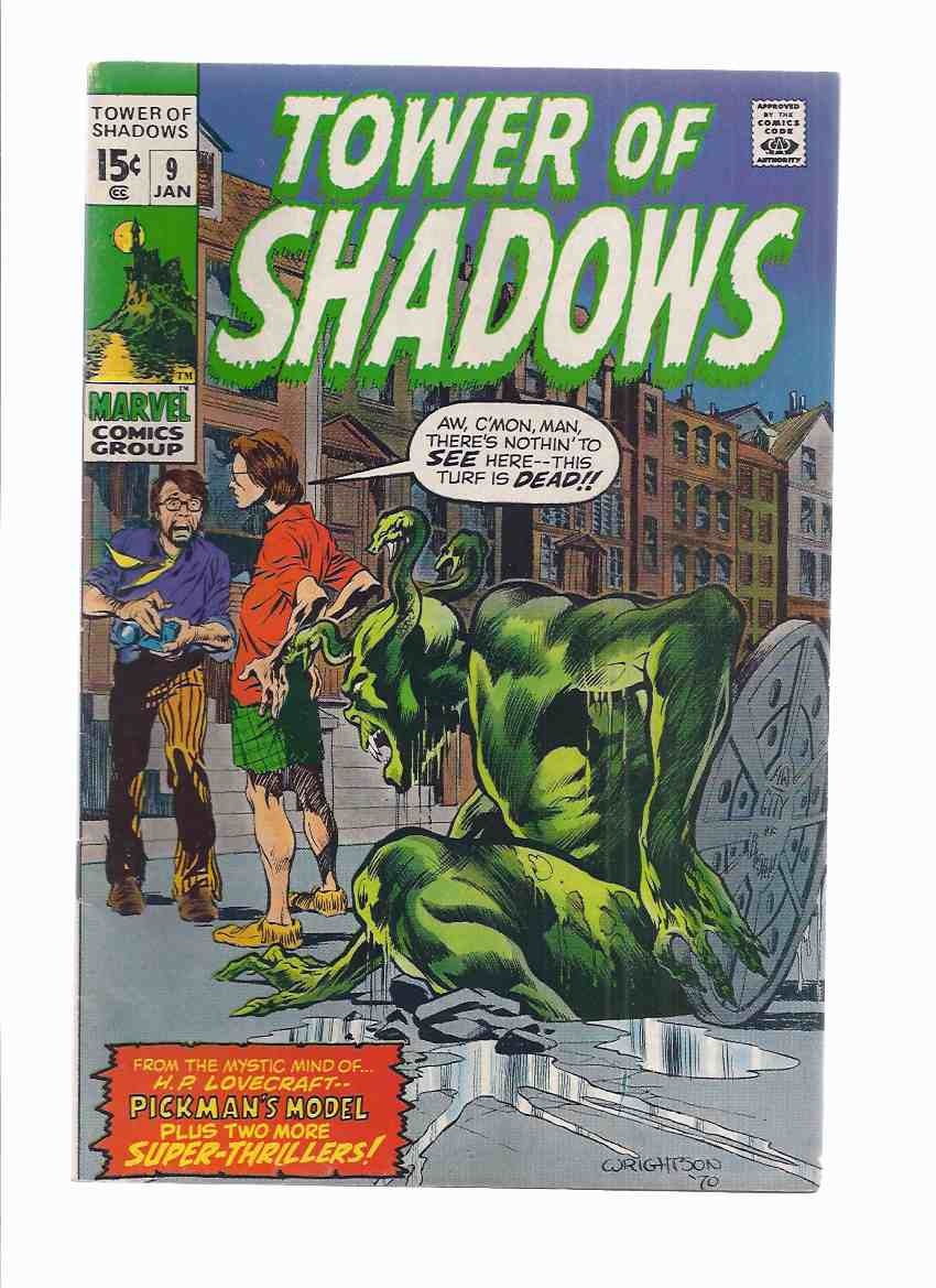 Image for MARVEL COMICS - TOWER of SHADOWS:  Volume 1, # 9 (inc: Pickman's Model; The Threat from the 5th Dimension;  I Dared to Enter the Haunted Room )