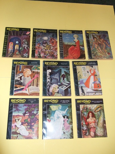 Image for BEYOND Fantasy Fiction Volume 1, 2 # 1, 2, 3, 4, 5, 6, 7, 8, 9, 10 ( Dream Makers; Kid Stuff; King of the Elves; Hush!; Sorry, Right Number; God Business; Voodoo; Green Magician; Dragon Lady, etc) ( SF / Science Fiction Digest )