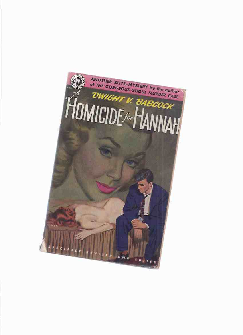 Image for Homicide for Hannah -by Dwight V Babcock / Avon # 332 ( a Joe Kirby Mystery )