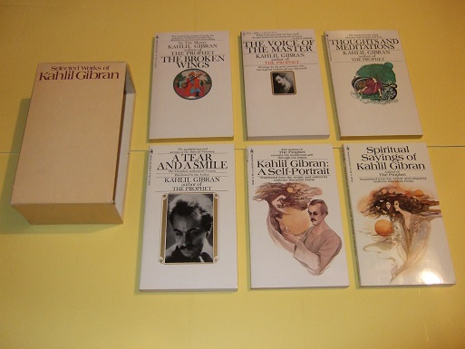 Image for Selected Works of Kahlil Gibran:  The Voice of the Master; The Broken Wings; Thoughts and Meditations; A Tear and a Smile; Spiritual Sayings of KG; KG - a Self Portrait -SIX VOLUMES in a SLIPCASE / BOX ( Boxed / Slipcased Set )