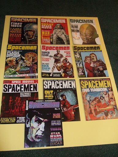 Image for Spacemen Magazine ( SF - Science Fiction Movies): Volume 1, 2 Issue # 1 2 3 4 5 6 7 8 Yearbook, and # 2 - 2nd Series (10 issues) Flash Gordon; Buck Rogers; (related) 20 Million Miles to Earth; Metropolis; When Worlds Collide King Kong; Fahrenheit 451 etc)