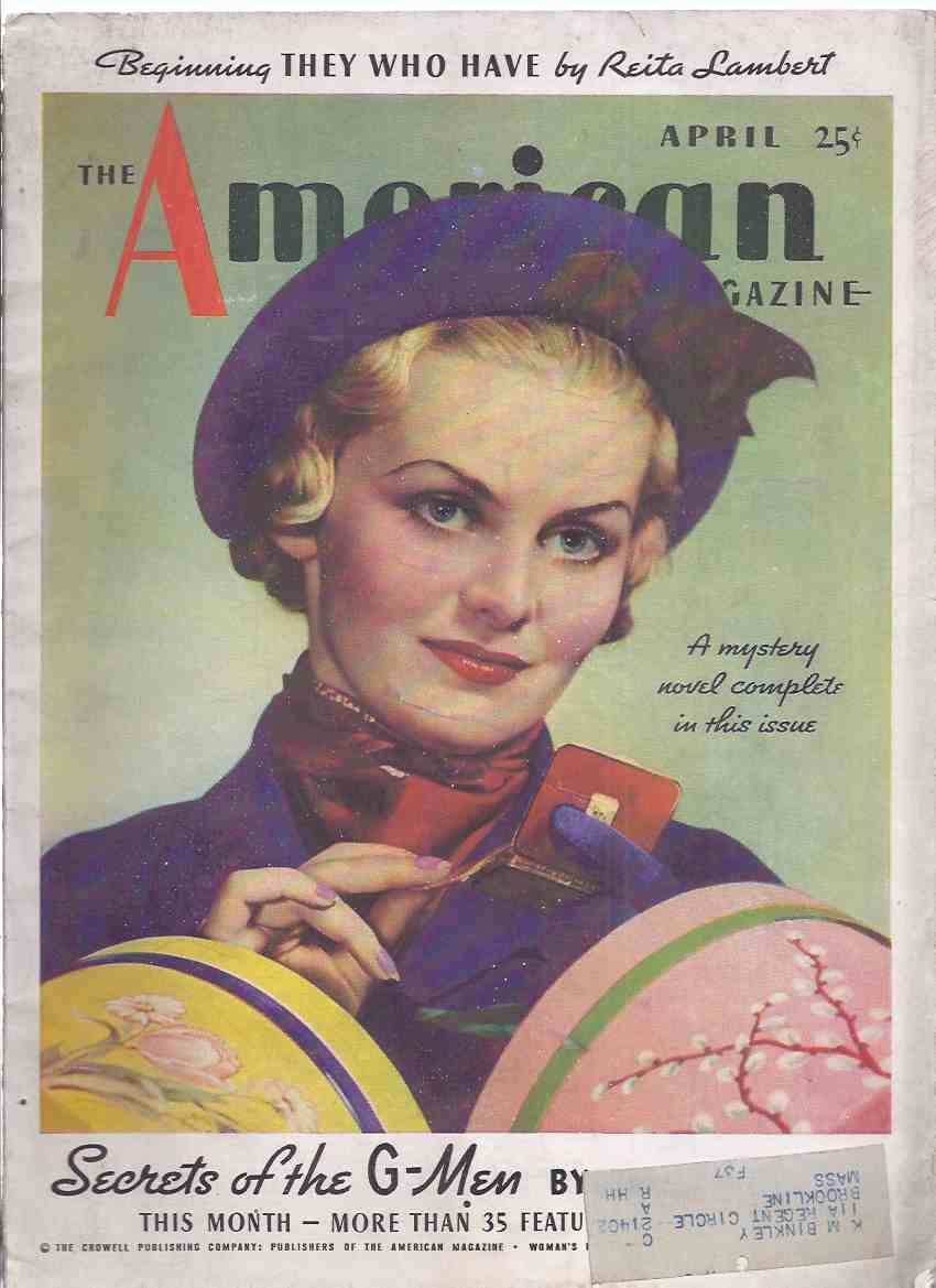 Image for The American Magazine, April 1936, Volume CXXI, # 4 (inc. Fate in Her Hands; Death Stops at a Tourist Camp; The Stolen God (part 3 ); The Real Public Enemy No. 1; etc)