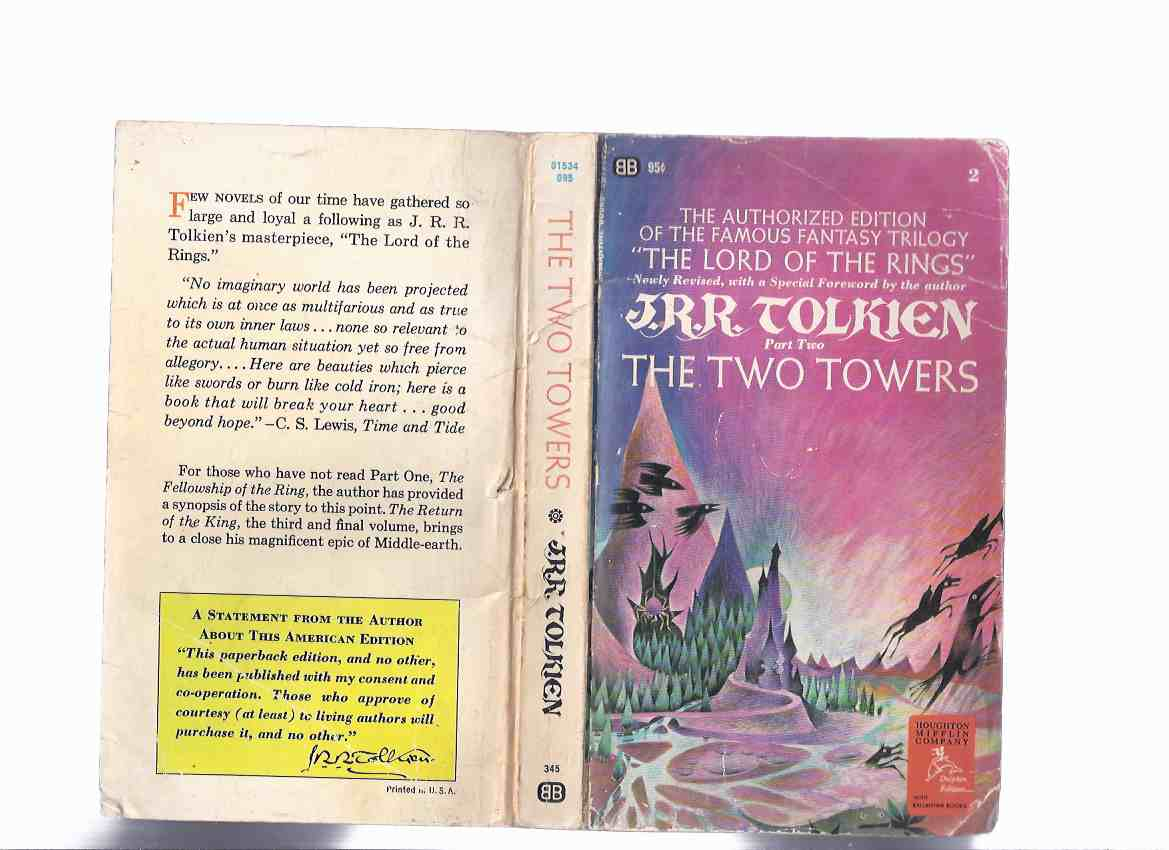 Image for The Two Towers, Book 2 of The Lord of the Rings Trilogy -by J R R Tolkien ( Volume Two )( US Imprint )
