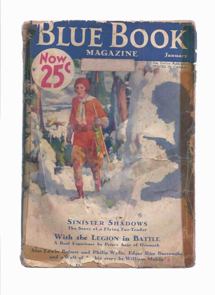Image for Blue Book Magazine, January 1933 Volume 56 # 3 ( When Worlds Collide (part 5 of 6 ); Tarzan and the Leopard Men (part 6 of 6 ); A Strange Santa Claus; In Search of Zapata; etc)( Pulp Magazine )
