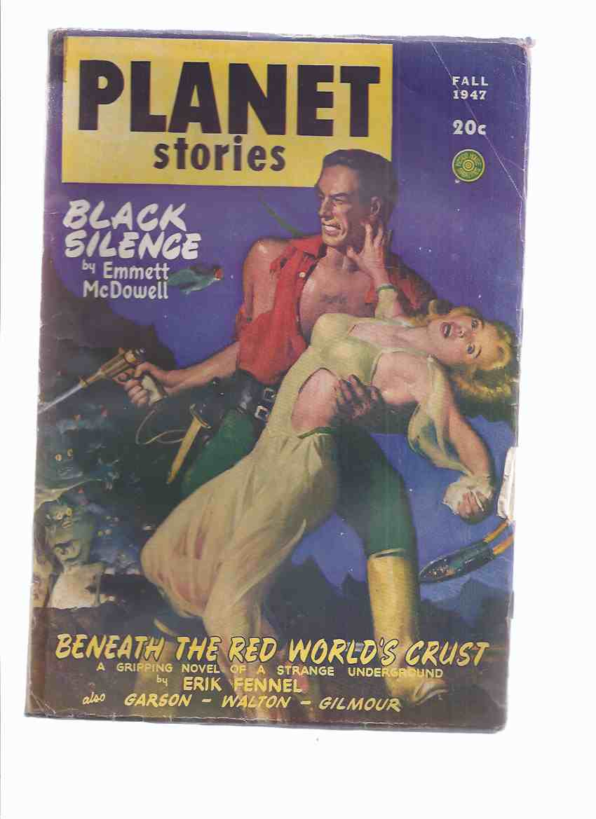 Planet Stories June - August 1947 Volume III #  8 (inc. Black Silence; Zero Hour; Benneath the World's Crust; Crash Beam; Asteroid Justice; Against Tetrarch; Assignment in the Dawn; Test for the Pearl; Escape Pluto )( SF / Science Fiction Pulp Magazine )