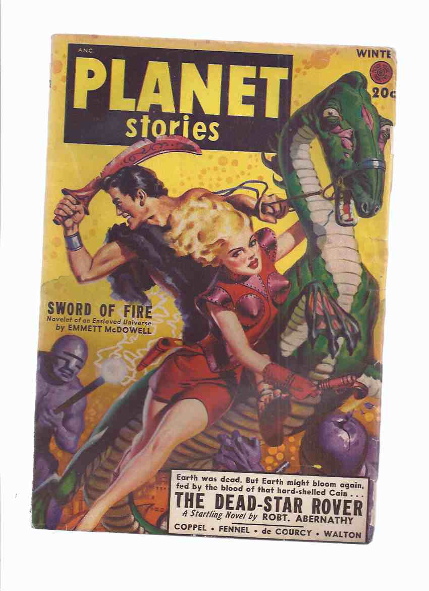 Image for Planet Stories Winter 1949 Volume IV # 5 (inc. Dead Star Rover; Sword of Fire; Tubemonkey; Flight from Time; Night Has a Thousand Eyes; The Green Dream; Let the Ants Try)( SF / Science Fiction Pulp Magazine )