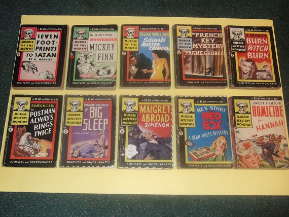 Image for Avon Murder Mystery Monthly; Seven Footprints Satan; Mysterious Mickey Finn; Silinski Master Criminal; French Key; Burn Witch Burn; Postman Always Rings Twice; Big Sleep; Maigret Abroad; Red Box; Homicide for Hannah TEN Volumes -Book 1 2 3 4 5 6  7 8 9 10