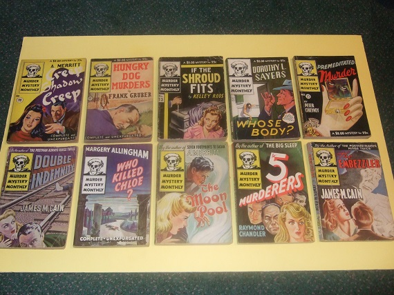 Image for Avon Murder Mystery Monthly: Creep Shadow Creep; Hungry Dog Murders; If Shroud Fits; Whose Body?; Premeditated Murder; Double Indemnity; Who Killed Chloe; The Moon Pool; 5 Murderers; The Embezzler - TEN Volumes -Book 11, 12, 13, 14, 15, 16, 17, 18, 19, 20