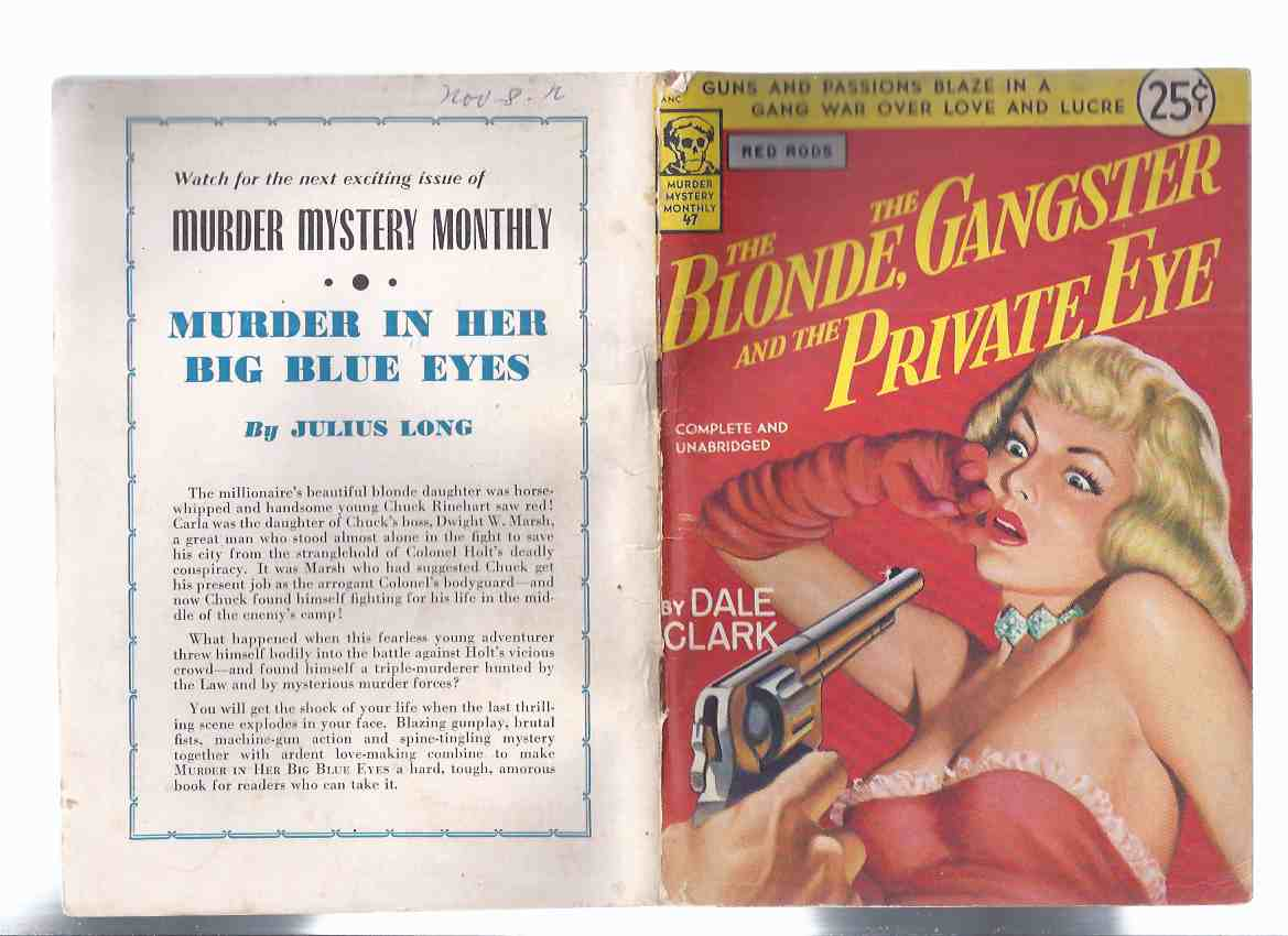 Image for The Blonde, The Gangster and the Private Eye -by Dale Clark / Avon Murder Mystery Monthly # 47