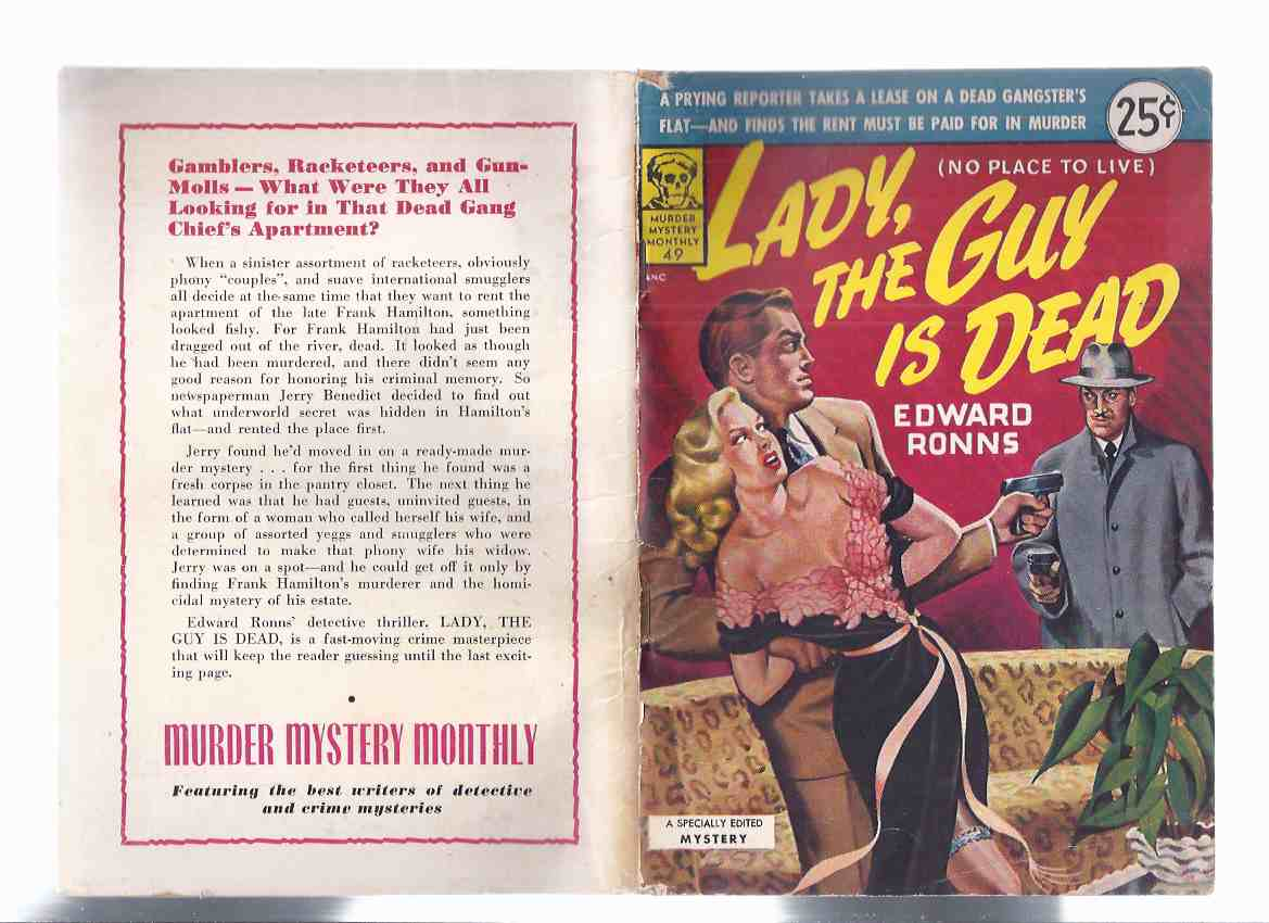 Image for Lady, the Guy is Dead (aka No Place to Live ) / Avon Murder Mystery Monthly # 49