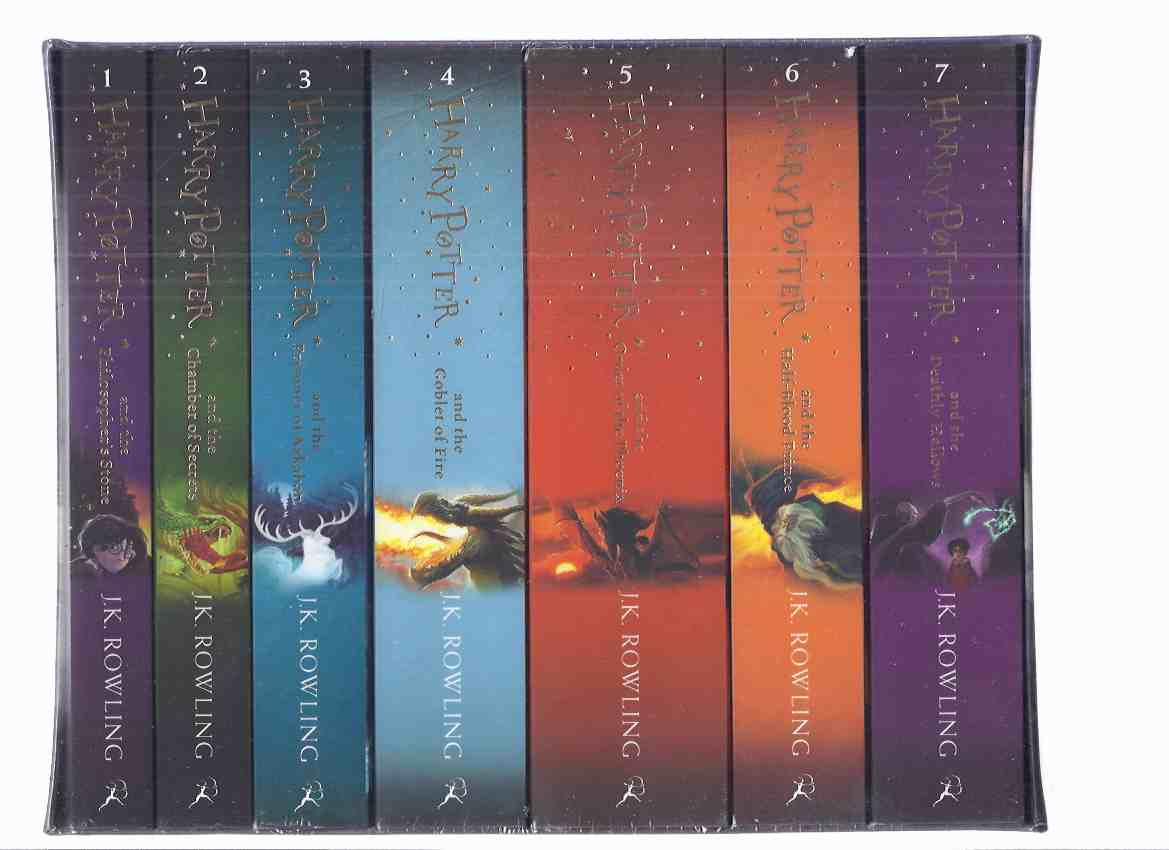 Image for SEVEN Volumes in Slipcase:  Harry Potter & the Philosopher's Stone ( AKA: Sorcerer's Stone ); Chamber of Secrets; Prisoner of Azkaban; Goblet of Fire; Order of Phoenix; Half Blood Prince; Deathly Hallows -book 1, 2, 3, 4, 5, 6, 7 ( Philosophers )