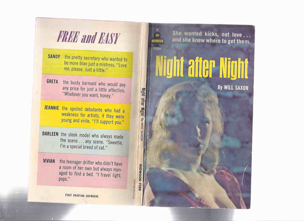 Image for Night After Night -by Will Saxon / Midwood - Tower Book # F288