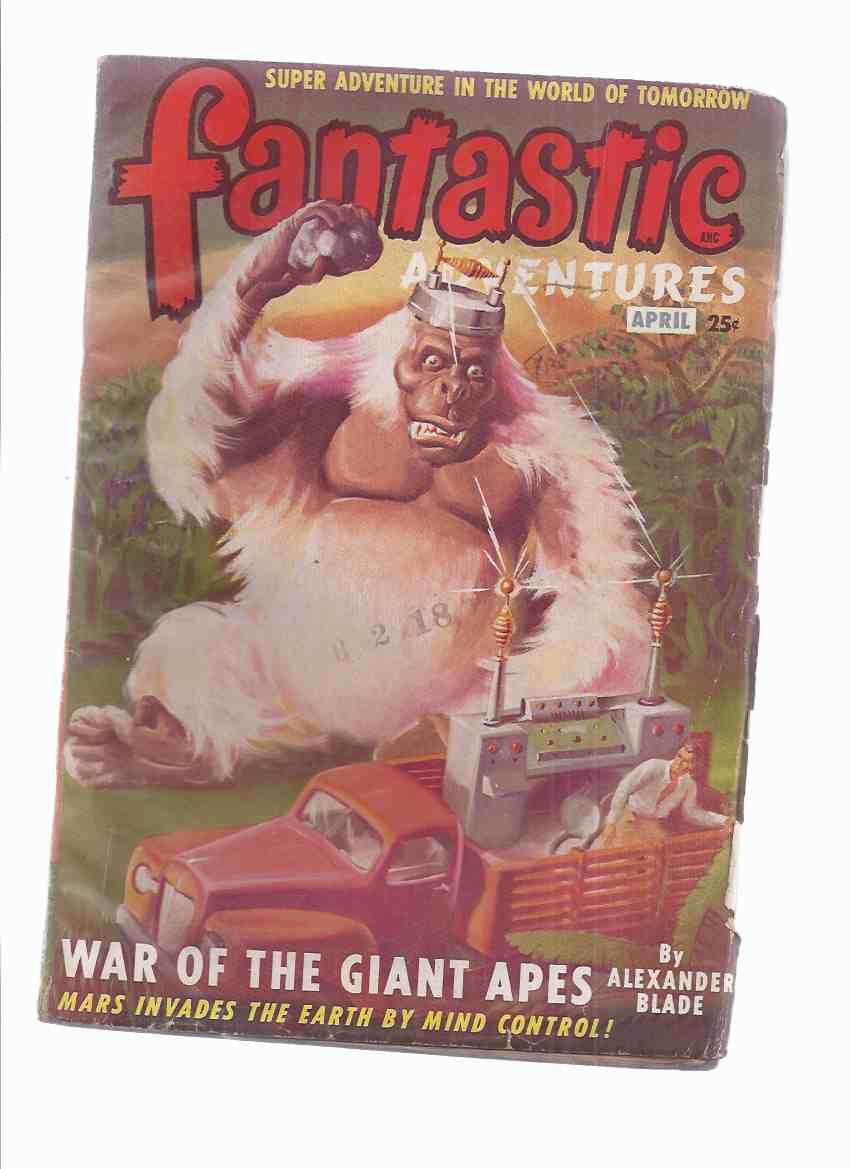 Image for Fantastic Adventures Volume 11 # 4, April 1949 (inc.War of the Giant Apes; The Murder Ray; Blue Bottle Fly; She; Peril in Dragonia; etc)( SF Pulp Magazine )