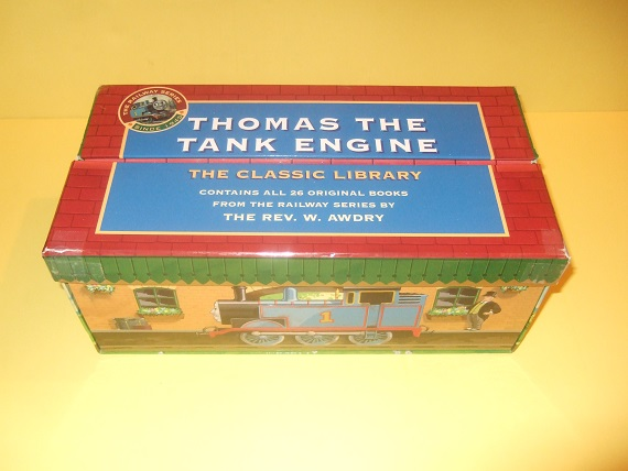 Image for Thomas the Tank Engine Classic Library, 22 Books / Volumes ( Three Railway Engines; James Red; Troublesome; Henry Green; Toby Tram; Gordon Big; Edward Blue; Four Little; Percy Small; Duck Diesel; Branch Line; Tramway; Gallant Old; Stepney Bluebell; etc)