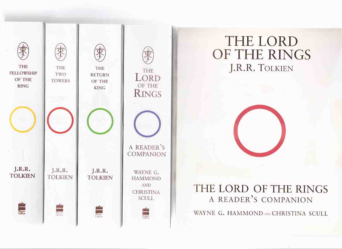 Image for Four Volumes in Slipcase: The 50th Anniversary Edition of The Lord of the Rings Trilogy - Fellowship of the Ring; Two Towers; Return of the King ( Books 1 2 3 ) & The LOTR Reader's Companion -UK Boxed Set ( Fiftieth )( Slipcased / Box )